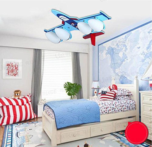 Lily's-uk Love Protection pour les yeux Chambre pour enfants Lumières Lumière Creative Cartoon Art Éclairage LED Petit Garçon Chambre Plafonnier