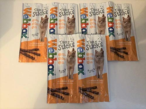 Surrey Feed Webbox Tasty Sticks Cat Treats - Chicken and Liver (Pack of 3)