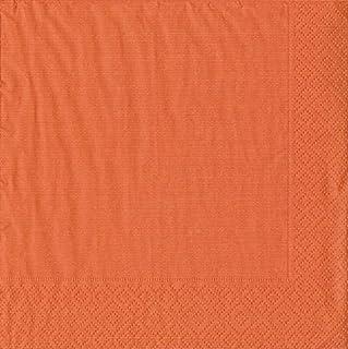 Caspari 8602C Grosgrain Napkin Cocktail, Deep Orange, 20-Pack