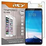 REY 3X Protector de Pantalla para Vivo Y75, Cristal Vidrio Templado Premium