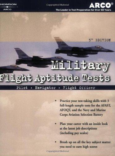 Military Flight Aptitude Tests, 5/e (Peterson's Master the Military Flight Aptitude Tests)