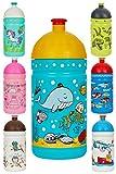 Eco Botella 0,5L *MADE IN EU* para niños, sin BPA sin Ftalatos Irrompible, Duradera y Chula!! (El mundo del Mar)