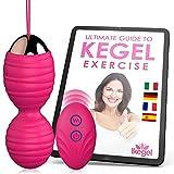 Ikegel Kegel Bolas Chinas Con Control Remoto y eBook En Espanol | Fácil de Usar | Pelota De Ejercicio De Silicona | Bolas Kegel | Bolas Chinas de la Salud | Bolas China Suelo Pelvico