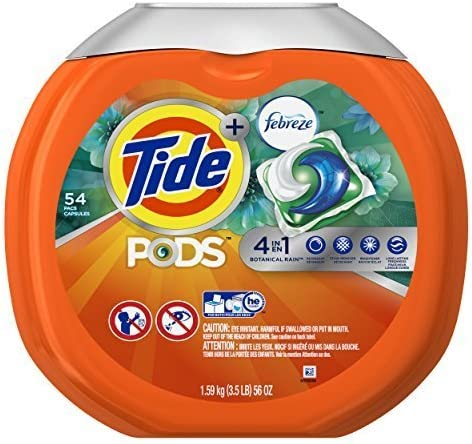 Tide PODS Bombing free shipping Plus Febreze Laundry Botanical Bag Packs Ra Detergent Fixed price for sale