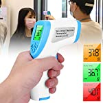 Baby Adult Portable Electric Digital Home Smart Precise Non Contact Thermometer, Digital Temperature Gun, 2-in-1 Blue (Without Battery) Thermometer Ear Forehead Wrist Baby Thermometers Health Care