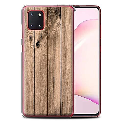 Stuff4 Telefoonhoesje/Over/Huid/SG-GC/Houtkorreleffect/Patrooncollectie Samsung Galaxy Note 10 Lite 2020 Planken