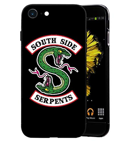 Serpents Snake Logo iPhone 5/5S Funda, Carcasa Silicona Protector Anti-Choque Ultra-Delgado Anti-arañazos Case Caso para Teléfono iPhone 5/5S, Negro