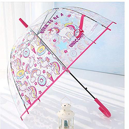 Paraguas Paraguas De Unicornio para Niños Paraguas Transparente Lindo Paraguas Semiautomático para Niños Pingüino De Dibujos Animados Apolo 3