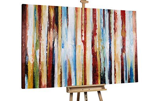 'Spiel der Gezeiten' 180x120cm   Abstakt bunte Linien XXL   Modernes Kunst Ölbild
