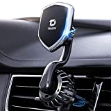 【Military-Grade】 Magnetic Vent Hook Phone Holder for Car【Ultra Sturdy】 Hands-Free Car Phone Holder Mount 【Sharp Turns & Bumpy Roads Friendly】 Compatible with iPhone, Samsung, All Smartphones