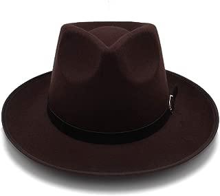HaiNing Zheng Fashion Unisex Womem Men Classic Wide Brim Sun Hat Feodora hats Panama Cap