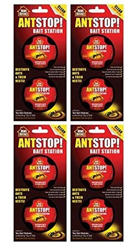4 x Ant Stop! Bait Station, Destroys Ants and their Nests