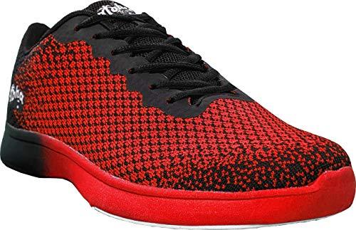 Aloha HexaGo, scarpe da bowling da donna e uomo, per destrorsi e mancini, misura 35-49, Multicolore (rosso/nero), 47 EU