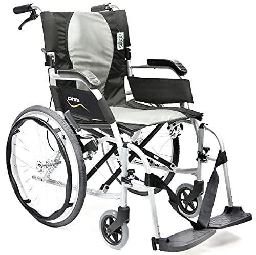 Karman 19 lbs Ergo Flight S-2512-F - Ultra Lightweight Ergonomic Wheelchair with Removable Footrest