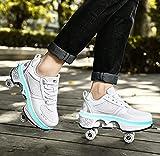 XRDSHY Rodillos Niñas, Zapatos con Rollos para Niñas...