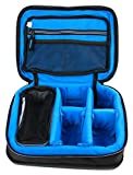 DURAGADGET Bolsa Acolchada Profesional Negra con Compartimentos para Cámara Deportiva Sony RX0 | Action CAM FDR-X1000VR | Stoga V3 | Sainlogic Action CAM 4k | Meerveil T800