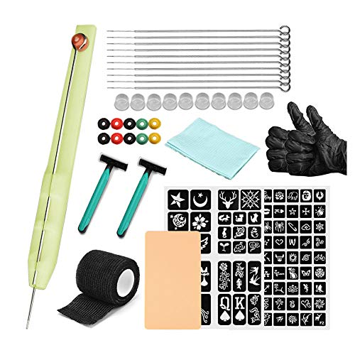 Apofly Tattoo Kits,Tattoo Needles Set,Tattoo Gun,Hand Poke Stick Tattoo Kit Strong Stable Tattoo Pen Power Supply Needle for Tattoo Artist
