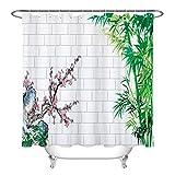N/ Backsteinmauer Bambus Pflaume Duschvorhang Liner Badezimmer Haken Polyestergewebe 183 * 183CM