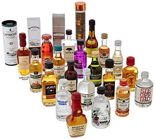 Amazon Premium Spirituosen Adventskalender 2020 - 24 Miniaturflaschen inkl. Booklet mit Verkostungsnotizen und Cocktailrezepten - 3