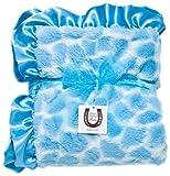 Max Daniel Baby Throw Blanket, Blue Giraffe