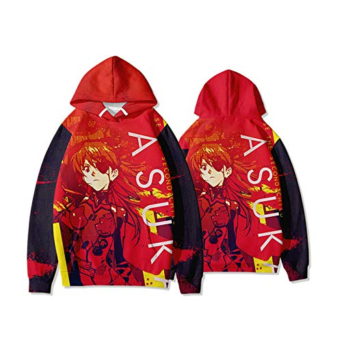 CAFINI Neon Genesis Evangelion Rei Ayanami 3D Print Hoodie Unisex Anime Sudadera Streetwear Hip Hop Sudadera Fun Fashion Sexy Student Pareja Adolescente Comic Top (XS-3XL)