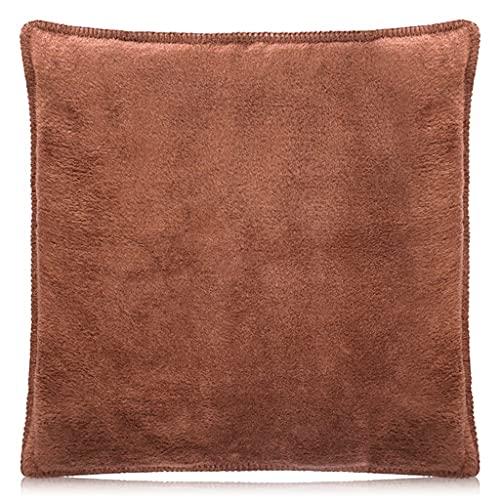 Ipex Funda de cojín de lujo para dormitorio, sala de estar y sofá. Decoración brillante para el hogar y fundas de almohada suaves de 50 x 50 cm (mediano) (marrón)