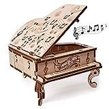 Wood Trick - Piano de Cola - Puzzle 3D madera - Rompecabezas adultos - Ensamblaje sin pegamento - 36 piezas