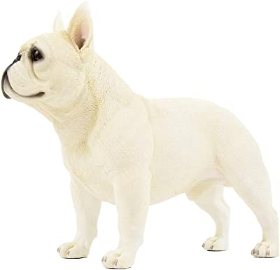 Lie Sleep French Bulldog Puppy Life Like Statue Figurines J3B0
