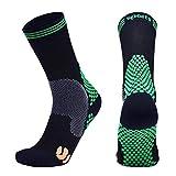 Calze a compressione da uomo per fascite plantare Sport Calcio Corsa Ciclismo Calze da volo Super Soft Disponibile in 3 lunghezze gamba Verde X-large