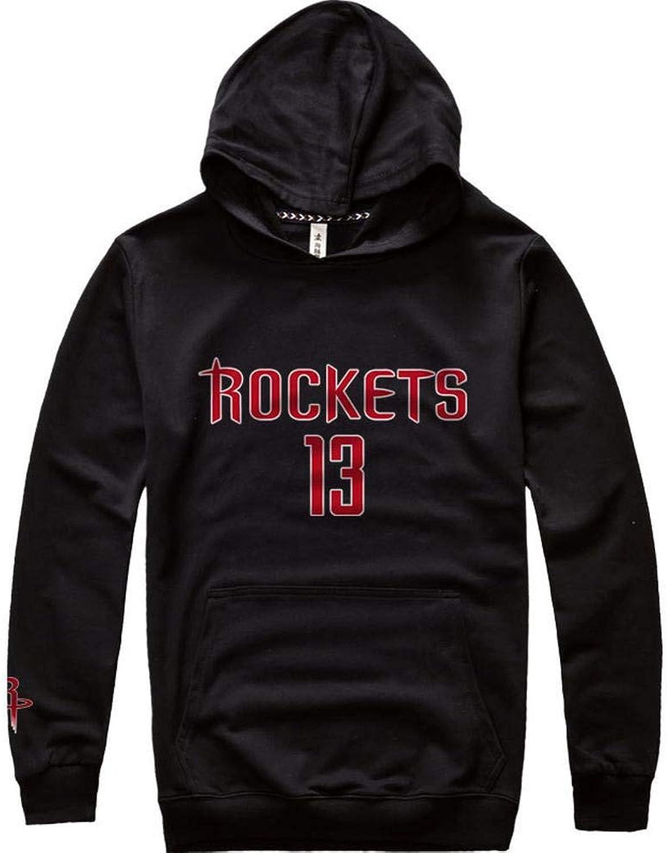 COSPLA Herren Hoodie Hip Hop Houston Rockets James Harden Trikot Für Basketballtraining Lose Street Dance Lssig Sport T-Shirt