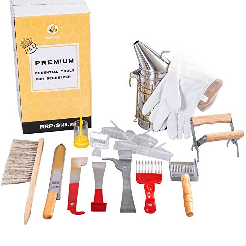 Beekeeping Supplies Beekeeping Tools for Beekeeper Necessary Bee Supplies Beekeeping Starter Kit 14 Pcs The PRO Edition