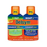Delsym Max Strength Delsym Day Cough + Chest Congestion DM & Night Cold & Cough Liquid, Cherry & Mixed Berry, Combo Pack (2 x 6 fl. oz.)
