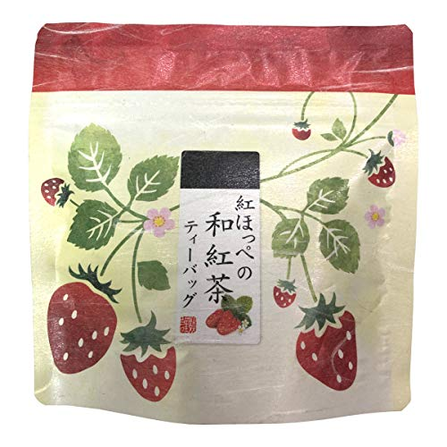 国産 静岡県産 紅ほっぺ(いちご)の和紅茶 10g(2g×5) 巣鴨のお茶屋さん 山年園