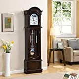 FirsTime & Co. Espresso Grandfather Clock, 72' H x 19' W x 9' D 31017
