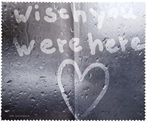 Brillenputztuch 18 x 15 cm • 44265 ''Wisch you were here'' von Inkognito • Künstler: INKOGNITO © Martin Scheffler