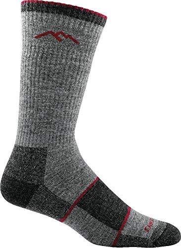 Darn Tough Mens Merino Wool Hiker Boot Sock Full Cushion Mens Socks Charcoal Large