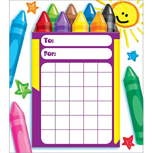 TREND ENTERPRISES, INC. Colorful Crayons Incentive Pad, 36 Sheets
