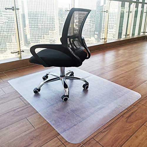 Vloerbeschermingsmat, bureaustoel, onderlegger, transparant, Eva vloeronderlegger, laminaat, voor laminaat, parket, tegels en harde vloeren, antislip, 90 x 120 cm