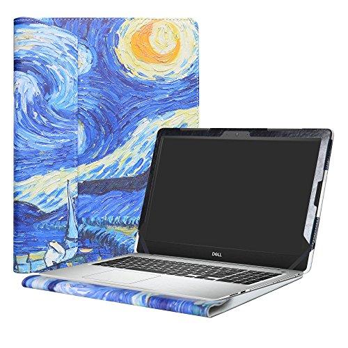 """Alapmk Specialmente Progettato PU Custodia Protettiva in Pelle Per 15.6"""" Dell Inspiron 15 5000 Series 5570 5575 5566 5555 5559 5558 5551 5552 5542 5543 5545 5547 5548 5557 Notebook,Starry Night"""