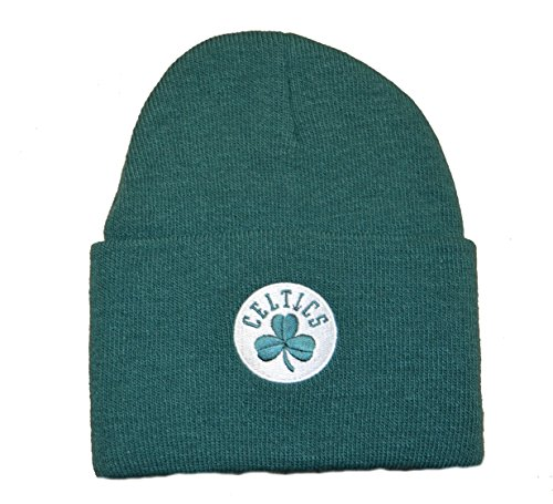 adidas Boston Celtics Green Beanie Hat - NBA Cuffed Knit Toque Cap