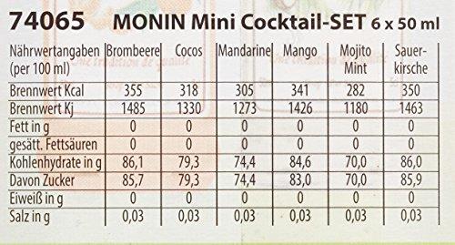 MONIN Mini Cocktail Set 6 x 50 ml Box mit Rezeptheft - 3