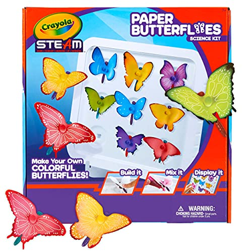 Crayola Paper Butterfly Science Kit, STEAM Toy, Gift for Kids, Ages 7, 8, 9, 10
