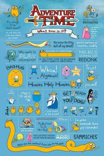 Empire Merchandising 634931 Adventure Time Infografía Tiempo de Aventura con Finn y Jake Póster tamaño 61 x 91,5 cm