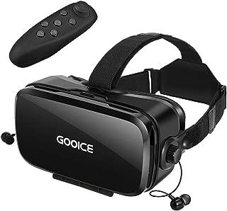 Gooice VR ゴーグル「2019改進版」Bluetoothリモコン付属 VRヘッドセット イヤホン 3D動画 ゲーム 映画 映像 効果 4.7~6.2インチ iPhone android などのスマホ対応