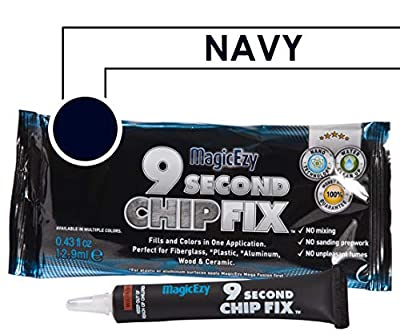 MagicEzy 9 Second Chip Fix - Fiberglass Repair - Fills and Colors Chips and Holes Fast