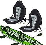 Seamander Kayak seat Canoe Seat for Universal Sit (Black/Grey(2 Pack No Storage Bag))