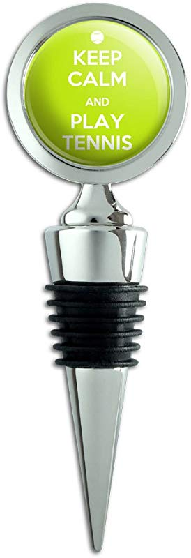 Keep Calm And Play Tennis Sports Wine Bottle Stopper