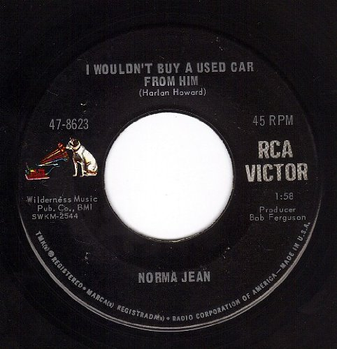 I'm No Longer In Your Heart/I Wouldn't Buy A Used Car From Him (VG+/++ 45 rpm)