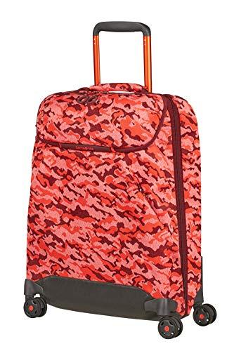 Samsonite Neoknit - Borsone con 4 Ruote S, 55 cm, 36.5 L, Multicolore (Fluo Red Camo)