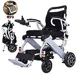 2020 Compacto Silla de ruedas Ligero Plegable Eléctrico Velocidad máxima 4.5km por hora, peso de la batería 1.4kg   3.1 lbs, muelle amortiguador grueso, funcionamiento suave for personas discapacitada